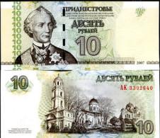 TRANSNISTRIA 10 RUBLES 2007 2013 P NEW - Moldavia