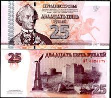 TRANSNISTRIA 25 RUBLES 2007 2013 P NEW - Moldavia