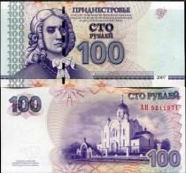 TRANSNISTRIA 100 RUBLES 2007 P 47 UNC - Moldavia