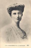 CPA Famille Royale. S. M. ALEXANDRINE Reine De DANEMARK - S. M. CHRISTIAN X Roi De DANEMARK - Familles Royales
