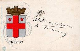 [DC8190] TREVISO - SCUDO SIMBOLO - Viaggiata Primi '900 - Old Postcard - Treviso
