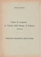 """LIBRETTO ALBUM TOIRANO-NICOLO' DURANTE-COME FU SCOPERTA LA """"GROTTA DELLA STREGA""""DI TOIRANO 1956 FORMATO 12,3 X 17,3 - Libri, Riviste, Fumetti"""