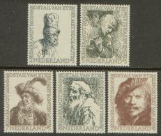 Nederland 1956 NVPH 671-675 Zomerzegels (Rembrandt) Postfris (MNH) - Periode 1949-1980 (Juliana)