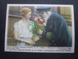 Août1938 Princesse Joséphine-Charlotte Belgia Chromo -image:Chocolat Belge Côte-d'Or:série Enfants Royaux De Belgique - Côte D'Or