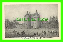 ANCIEN GUÉRANDE (44) - LA PLACE DU MARCHÉ-AU-BOIS, LE MAIL, LA PORTE ET LA COLLÉGIALE, 1850  -  F. CHAPEAU, ÉDITEUR - - Guérande