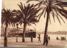 (345M) France - Ajaccio Et Paquebot A Quay  (old Postcard - Carte Ancienne) - Dampfer