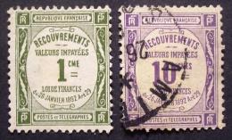 France 1908/25 - TAX - Scott J 46, J 47 - 1859-1955 Oblitérés