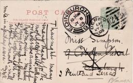 POSTAL HISTORY -1905 DUPLEX CANCELLATION  -DERBY - Postmark Collection