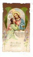 Image Pieuse , Souvenir Première Communion , Poitiers , Paroisse Saint-Pierre , 1910 , G. Salvayre , Vicaire - Images Religieuses