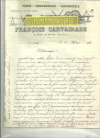 12 - Aveyron - SAINT-JEAN-DU-BRUEL - Facture CARTAIRADE - Carrosserie - 1911 - 1900 – 1949