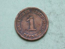 1892 J - 1 PFENNIG / KM 10 ( Uncleaned Coin / For Grade, Please See Photo ) !! - [ 2] 1871-1918: Deutsches Kaiserreich