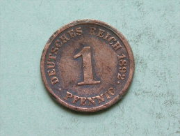 1892 J - 1 PFENNIG / KM 10 ( Uncleaned Coin / For Grade, Please See Photo ) !!