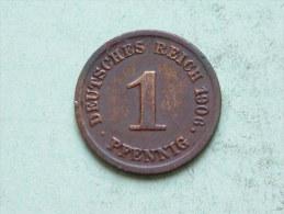 1906 G - 1 PFENNIG / KM 10 ( Uncleaned Coin / For Grade, Please See Photo ) !! - [ 2] 1871-1918: Deutsches Kaiserreich
