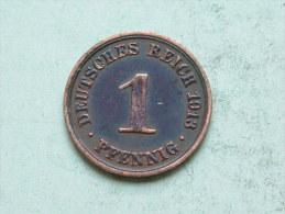 1913 A - 1 PFENNIG / KM 10 ( Uncleaned Coin / For Grade, Please See Photo ) !! - [ 2] 1871-1918: Deutsches Kaiserreich