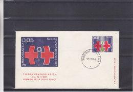 Croix Rouge - Yougoslavie - Lettre De 1967 - Oblitération Sibenik - 1945-1992 République Fédérative Populaire De Yougoslavie