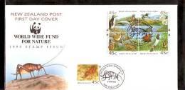 NEW ZEALAND 1993 WWF  Nature FDC . - W.W.F.
