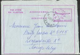 Aerogramme 4Fr; Obl. Sc KNOKKE 1 Du 11-9-1959 Vers Léopoldville - 9182 - Stamped Stationery