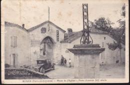 CPA - (82) Monjoi - Place De L'église - Porte D'entrée XIIe Siècle (pli) - Autres Communes