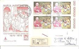 82441 )  FDC Centenario Della Nascita Di Maria Montessori - 31 Agosto 1970 - 6. 1946-.. Repubblica