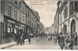S22/MUL - CPA - MULHOUSE Grand'rue Très Animée - Mulhouse