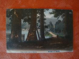 """Voew Of Ashi Lake At Hakone, Gelaufen Mit """"Kaiserl. Marine Schiffspoststempel"""" - Japan"""
