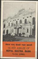 NEPAL - 1981 NEPAL RASTRA BANK FIRST DAY FOLDER   SG 410  Sc 391 - Nepal