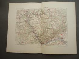 CARTE  -  Le RHIN De MAYENCE à COBLENZ - 1876 - Cartes Géographiques