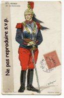 - 6 éme REGIMENT DE CUIRASSIERS, écrite En 1906 De St-MENEROULD, Marne, Splendide, Peu Courante, écrite, TBE,  Scans, - Régiments