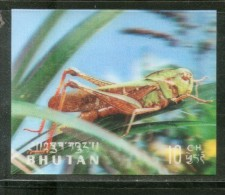 Bhutan 1969 Insect Grassoper Exotica 3D Stamp Sc 101 MNH # 3364 - Andere