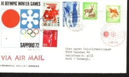 W,Olympic 1972 Post Mark Of Japan - Winter 1972: Sapporo