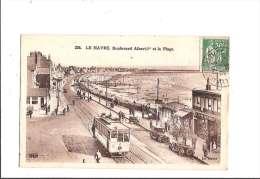 LE HAVRE. - Boulevard Albert 1er Et La Plage. (Tramway) - Le Havre