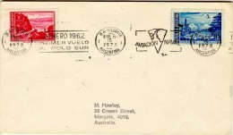 ARGENTINA  1973 PRIMER VUELO AL POLO SUR  Special Cancell. ; Used Cover - Antarctic Wildlife
