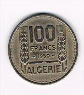 - ALGERIE  100 FRANCS  1950 - Algérie