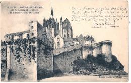 Le Mont Saint Michel  Les Remparts De L'abbaye   -   Neuve  TTB - Le Mont Saint Michel