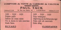 Buvard Vloeipapier Comptoir De Vente Paul Tack Courtrai - Kortrijk - Buvards, Protège-cahiers Illustrés