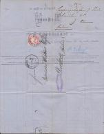 Bayern LUDWIGSHAFEN Faltbrief  Der Fa. Schmidborn & Co. 1873 Nach Durbach (Baden) - Bayern