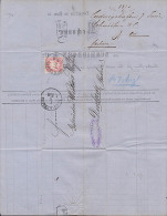 Bayern LUDWIGSHAFEN Faltbrief  Der Fa. Schmidborn & Co. 1873 Nach Durbach (Baden) - Bavaria