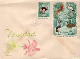 Lote CU1303-7F, Cuba, 1967, SPD-FDC, Navidad, 1 C, Christmas, Aves, Bird, Not Perfect - Sin Clasificación