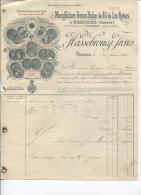6 FACTURES - MANUFACTURE FRANCO BELGE DE FIL DE LIN RETORS - A COMINES (BELGIQUE) 1891 - Autres