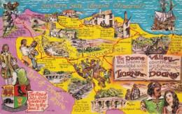 MAP POSTCARD -LORNA DOONE VALLEY - Maps