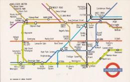 MAP POSTCARD - LONDON UNDERGROUND - Maps