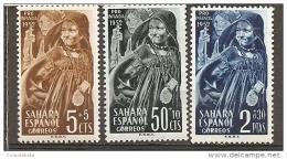 SA94-LB109TINO.Marruecos Maroc Marocco .SAHARA ESPAÑOL PRO INFANCIA 1952 .(Ed 94/6**) Sin Charnela. LUJO - Infancia & Juventud