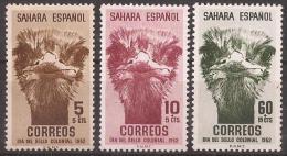 SA98-LB110TANO.Spain Espagne SAHARA ESPAÑOL Dia Del Sello.AVESTRUZ.  1952. (Ed 98/100**)sin Charnela . - Otros