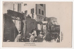 MAROC - CASABLANCA - Une Rue En Reconstruction - Révolution Marocaine - Casablanca