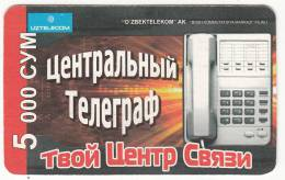 UZBEKISTAN - Telephone, Uzbek Telecom Prepaid Card 5000 CYM, Used - Uzbekistan