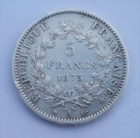 ARGENT: PIECE 5 FRANCS TYPE HERCULE 1873  BON ETAT VOIR PHOTO . - France
