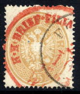 AUSTRIA 1863 Arms 15 Kr Perforated 14 Used With Red Cancellation.  Michel 28 - 1850-1918 Empire