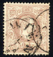 AUSTRIA 1867 Franz Joseph 50 Kr. Fine Whiskers Perforated 12 Used.  Michel 41 II D - 1850-1918 Empire
