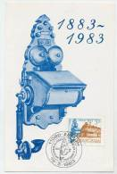 YUGOSLAVIA 1983 Serbian Telephone Centenary On  Maximum Card.  Michel 1975 - Maximum Cards