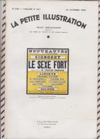 La Petite Illustration N°598 22 Octobre 1932 LE SEXE FORT TRISTAN BERNARD - Theatre